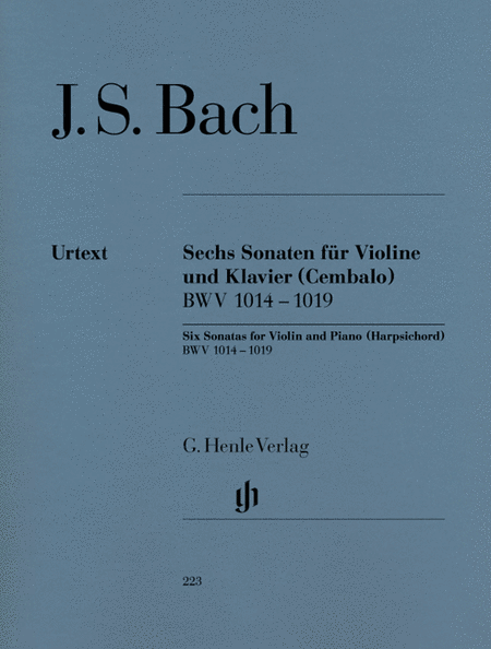 6 Sonatas for Violin and Piano (Harpsichord) BWV 1014-1019