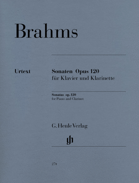 Sonatas for Piano and Clarinet (or Viola) op. 120, Nos. 1 and 2 (Version for Clarinet and Piano)