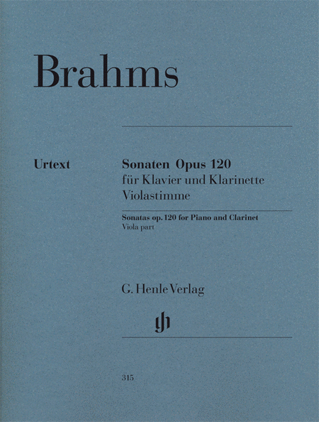 Sonatas for Piano and Clarinet (or Viola) op. 120, Nos. 1 and 2 (Viola part only)