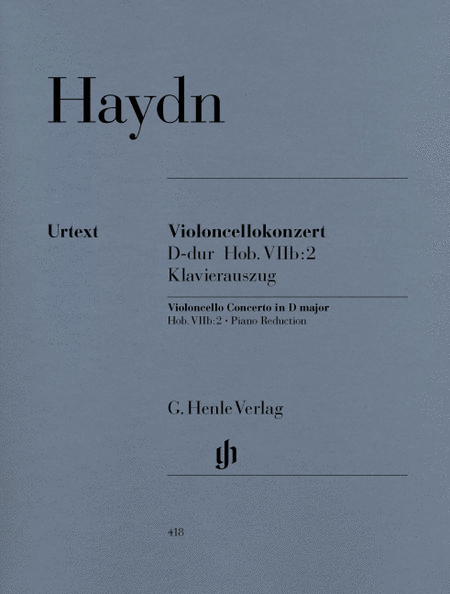 Concerto for Violoncello and Orchestra D major Hob. VIIb: 2