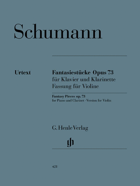 Fantasy Pieces for Piano and Clarinet Op. 73