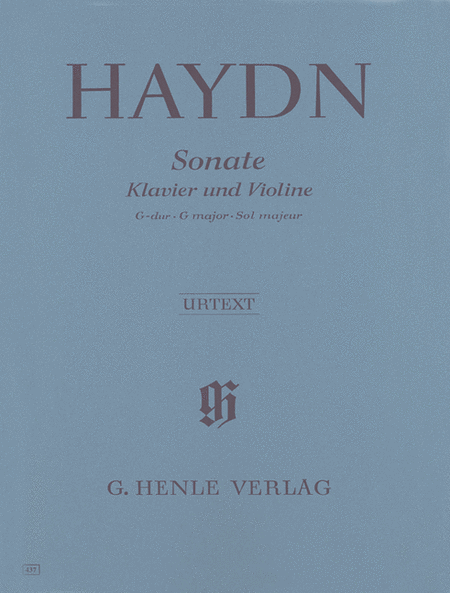 Sonata for Piano and Violin in G Major Hob. XV:32