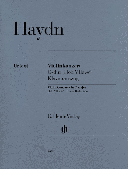 Concerto for Violin and Orchestra in G Major Hob. VIIa:4