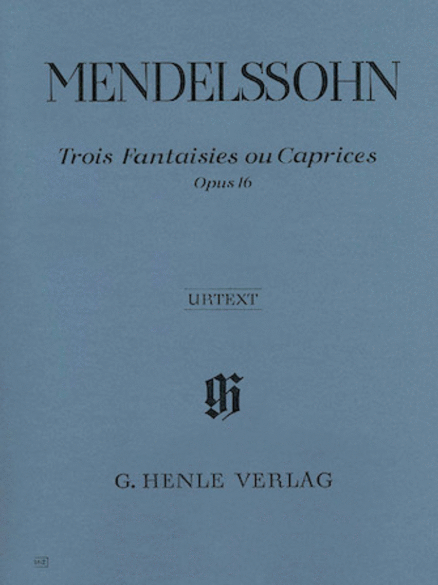 3 Fantasies ou Caprices Op. 16