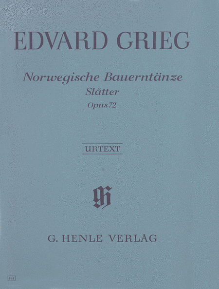 Norwegian Peasant Dances (Slatter) Op. 72