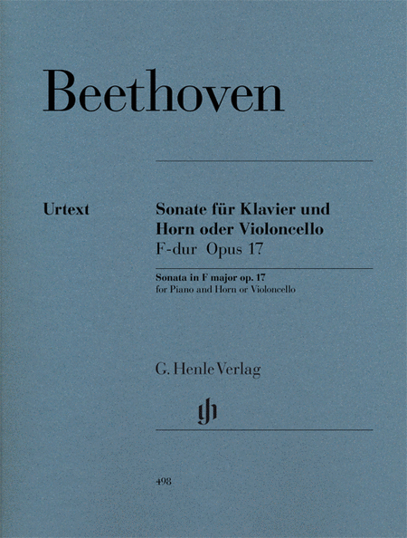 Sonata in F Major for Piano and Horn (or Violoncello) Op. 17