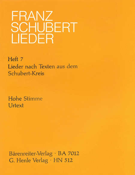Songs - Book 7: Songs with Lyrics by the Schubert Circle