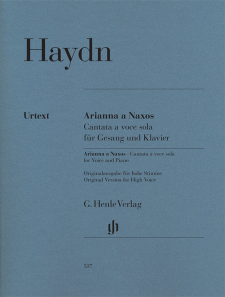 Arianna a Naxos, Cantata for Voice and Piano Hob.XXVIb:2