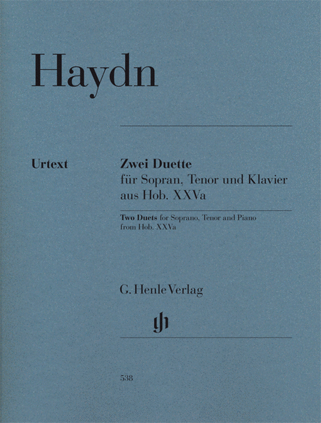 2 Duets for Soprano, Tenor and Piano Hob.XXVa:2 and 1