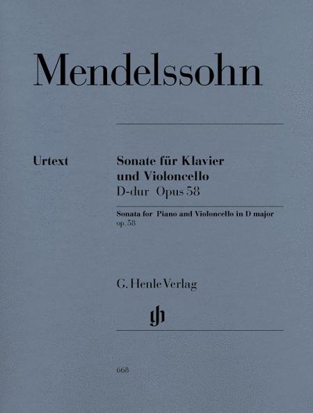 Sonata for Piano and Violoncello D Major Op. 58