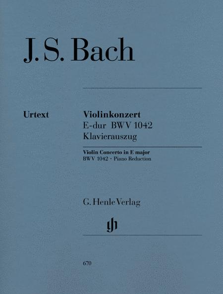 Concerto for Violin and Orchestra in E Major BWV 1042