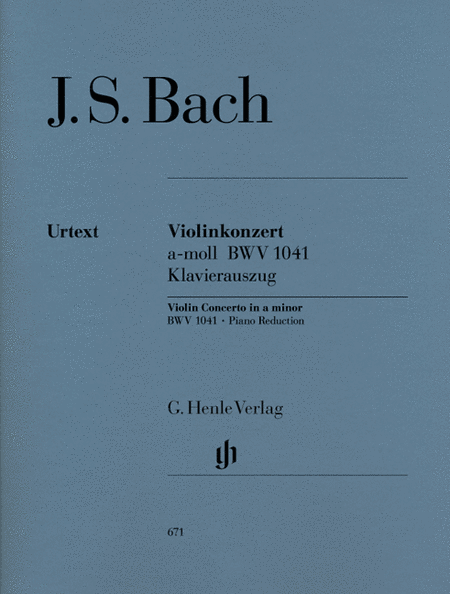 Concerto for Violin and Orchestra in A minor BWV 1041