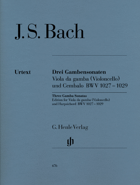 Sonatas for Viola da Gamba and Harpsichord BWV 1027-1029