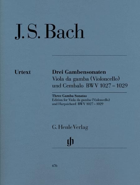 Sonatas for Viola da Gamba and Harpsichord BWV 1027-1029