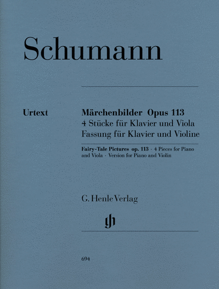 Fairy-Tale Pictures for Viola and Piano Op. 113
