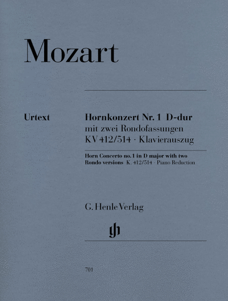Concerto for Horn and Orchestra No. 1 in D Major, K.412/514
