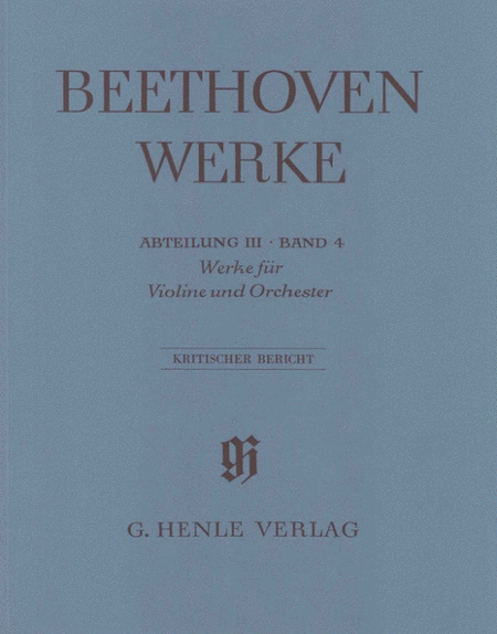 Works For Violin And Orchestra, Series III Volume 4