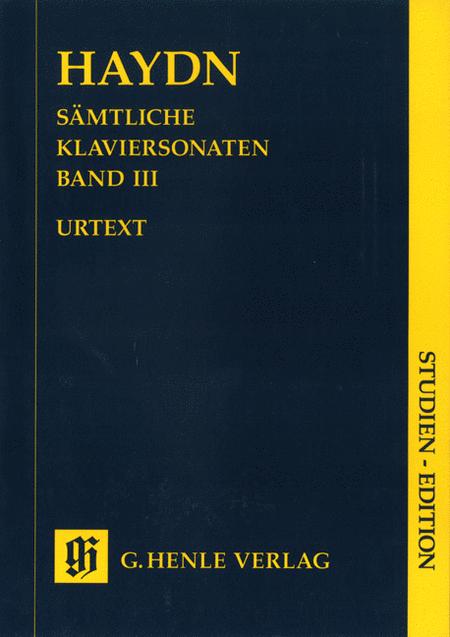 Haydn: Complete Piano Sonatas, Volume III