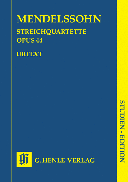 String Quartets Op. 44, No. 1-3