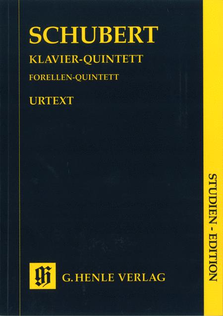 Quintet A Major Op. Posth. 114 D 667 The Trout