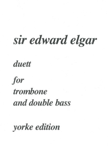Duett for Trombone and Double Bass