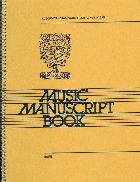 12 Stave-Music Manuscript Book
