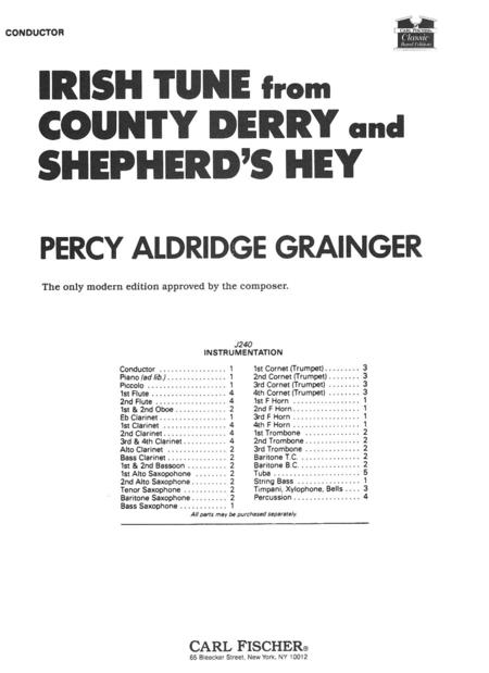 Irish Tune from County Derry & Shepherd's Hey