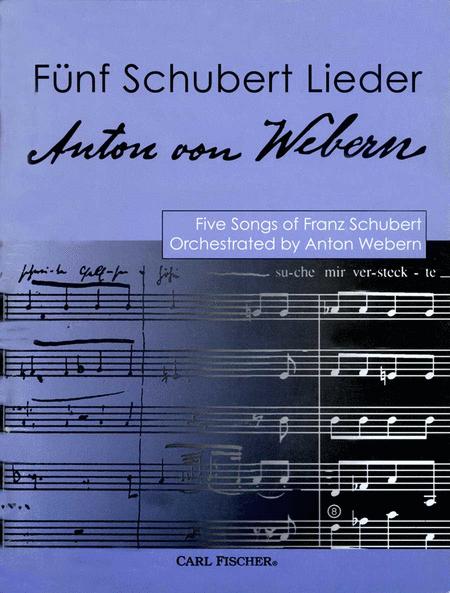 Funf Schubert Lieder