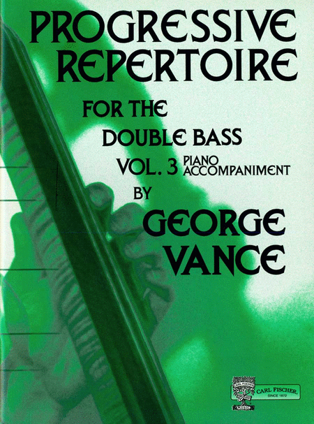 Progressive Repertoire for the Double Bass-Vol 3-Pa. Acc.