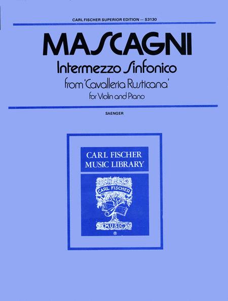 Intermezzo Sinfonico from 'Cavalleria Rusticana'