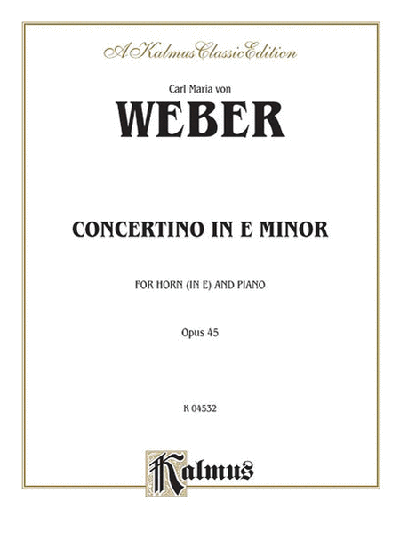 Concertino in E Minor, Op. 45 (Orch.)