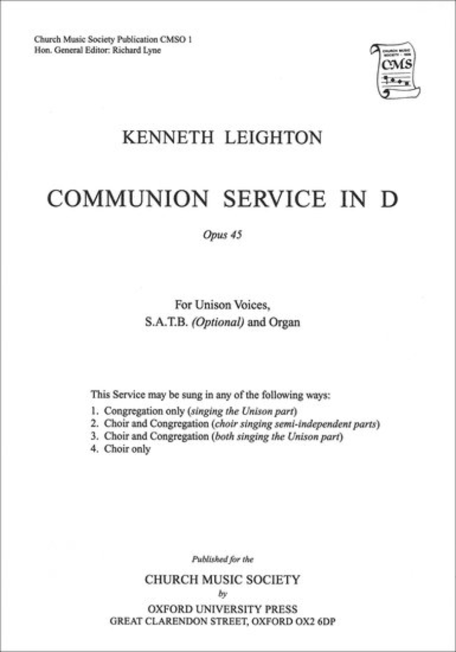 Communion Service in D Op. 45