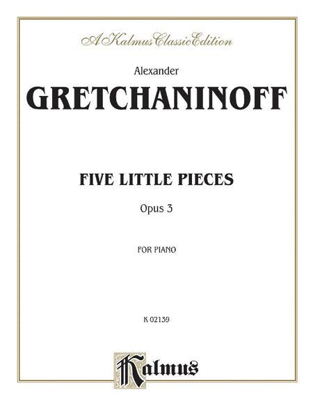 Five Little Pieces, Op. 3