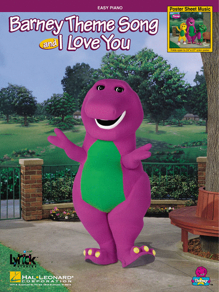 Barney Theme Song and I Love You - Poster Sheet Music