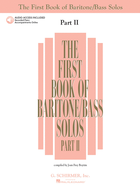 The First Book of Baritone/Bass Solos - Part II (Book/CDs)