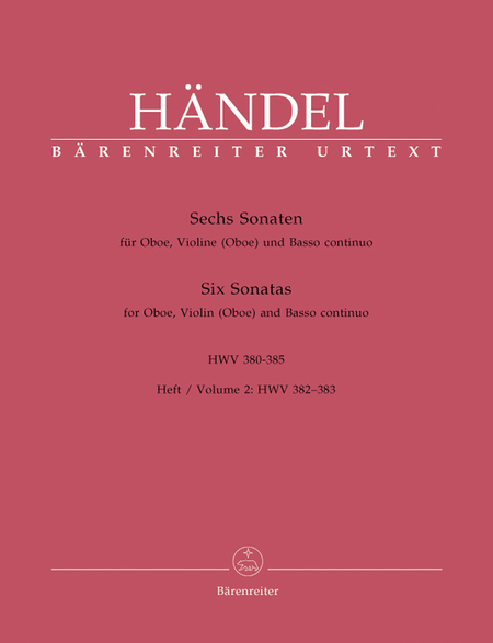Sechs Sonaten for Oboe, Violine (Oboe) and Basso continuo