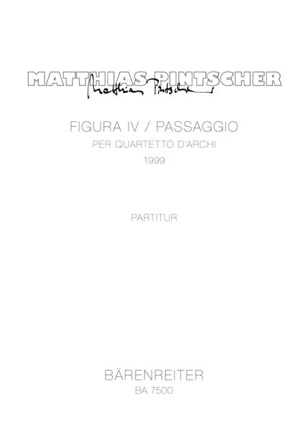 Figura IV / Passaggio per quartetto darchi