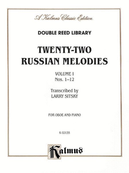 Twenty-two Russian Melodies, Volume 1