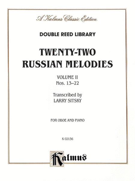 Twenty-two Russian Melodies, Volume 2