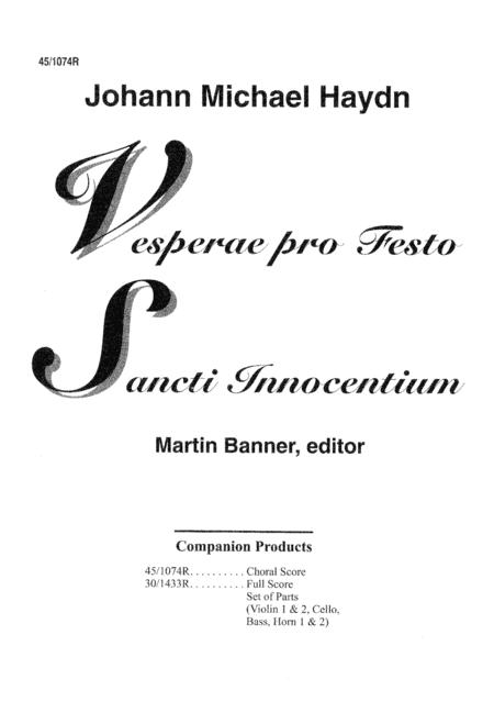 Vesperae Pro Festo Sancti Innocentium