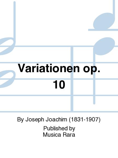 Variationen op. 10