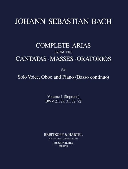 Samtliche Arien Bd. 1 S,Ob,Bc