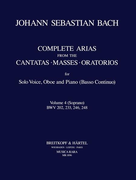 Samtliche Arien Bd. 4 S,Ob,Bc