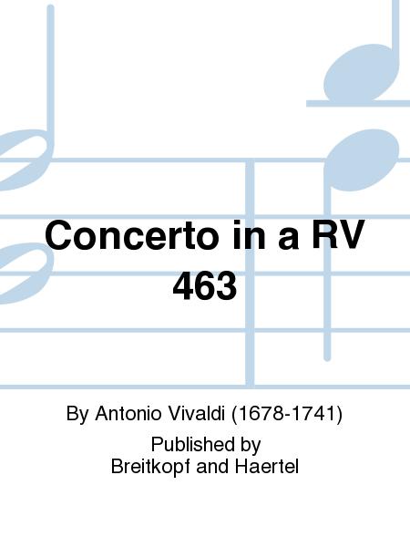 Concerto in a RV 463
