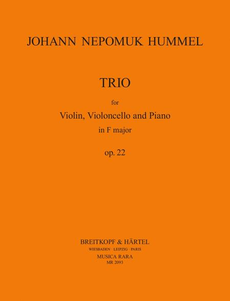 Klaviertrio F-dur op. 22