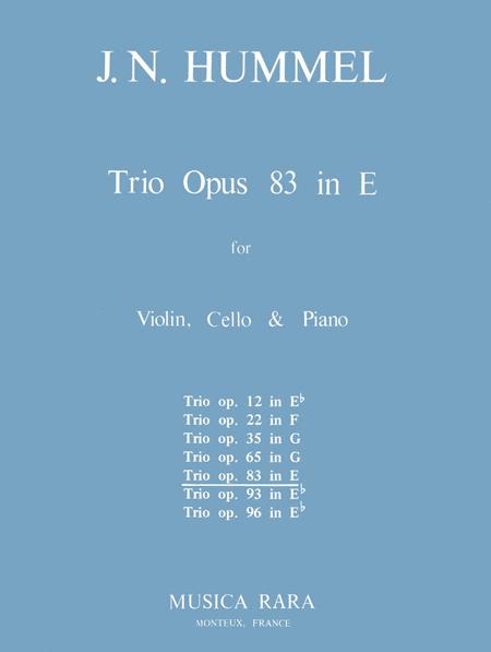 Klaviertrio E-dur op. 83