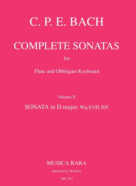 Sonate in D Wq 83