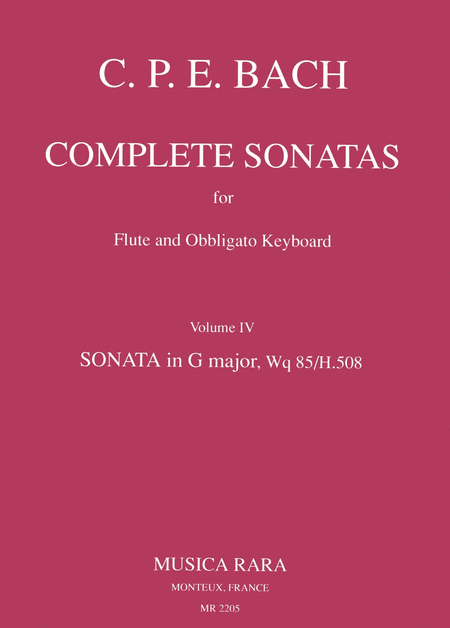 Sonate in G Wq 85