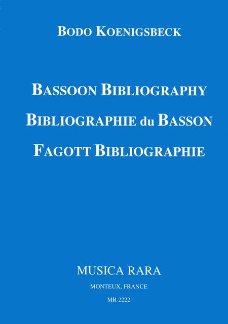 Bassoon Bibliography