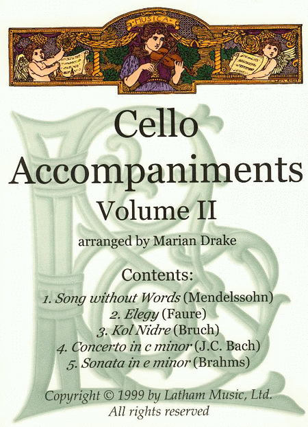 Cello Accompaniments: Volume 2